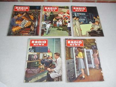 Lot of 5 Vintage Radio News Magazines June March May Jan 1946 Sept 1944