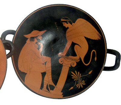 Greek Kylix Vase Pottery Museum Replica Reproduction