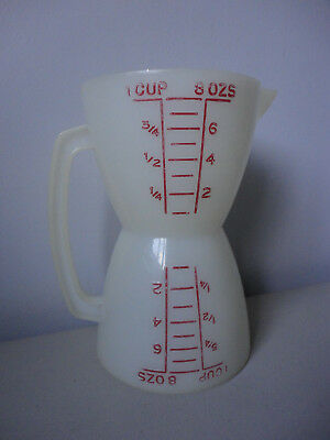 Vintage Tupperware Wet Dry Double Measuring Cup