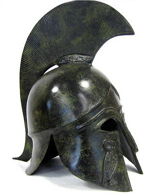 Athenian ancient Greek 100% Bronze Helmet Museum Replica Reproduction