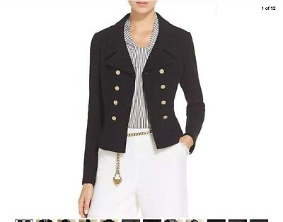 ST. John Collection Noveau Boucle Knit Spencer Jacket in Caviar size 10