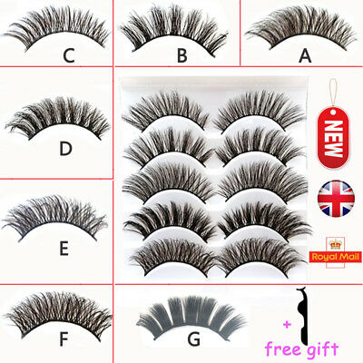 Multipack False Eye Lashes 3D Fake Eyelashes Long Thick Natural Lashes Set Mink
