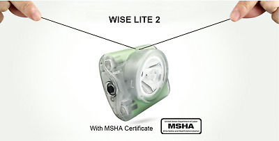 Wisdom Wiselite2 MSHA CERTIFIED cordless cap light lamp with charger