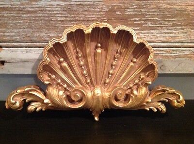 Vintage Gold Gilt Shell Design for Above Picture Mirror Door Topper Wall Decor