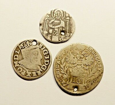 Mixed Lot Of 3 Silver Coins
