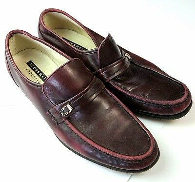 8161e067fc4 Florsheim Imperial Mens Red Burgundy Leather Penny Loafers Size 10.5 C