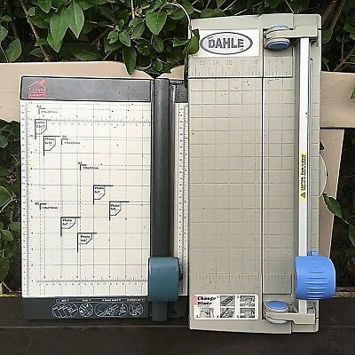 JOB LOT x2 DAHLE Create & Craft Paper Guillotine Slicer USED Free UK Postage