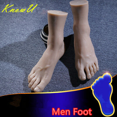 One Left Or Right Lifelike Silicone Men Legs Feet Mannequin Display Model EUR44