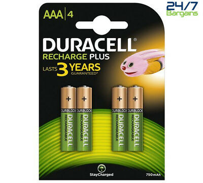Duracell Recharge Plus Aaa Rechargeable Batteries - Pack Of 4