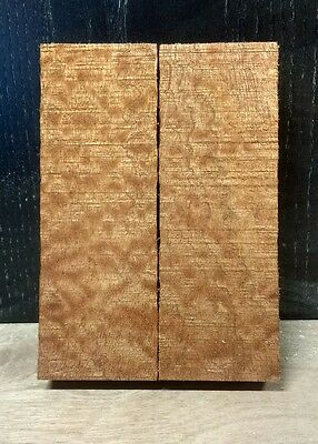 knife handle scales blanks Figured Mahogany  150x50x10 mm REALLY RARE !!