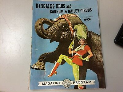 1964 Ringling Bros Barnum & Bailey Circus Souvenir Program Magazine 94th Season