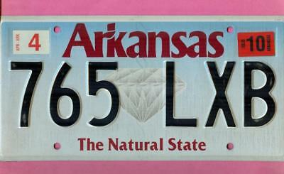 ARKANSAS LICENSE PLATE TAG AR The Natural State DIAMOND Free Shipping (765LXB)