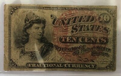 10 CENT Fractional Currency: 4th Issue FR 1261