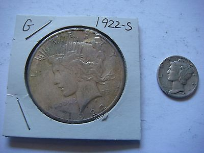 Lot of 1  Peace Silver Dollar  90% Silver with a Bonus Coin    #9499