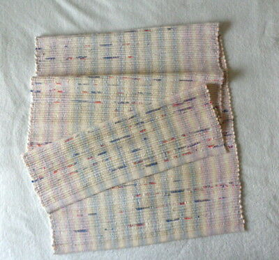 """NEW 27"""" x 54"""" Hand Woven Cotton Rag Rug Red White Blue Country Hall Runner Shoe"""