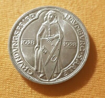 3 Mark Weimarer Republik 1928 A  Silber