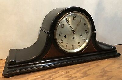German Junghans Westminster Chime Tambour Style Mantle Table Shelf Bracket Clock