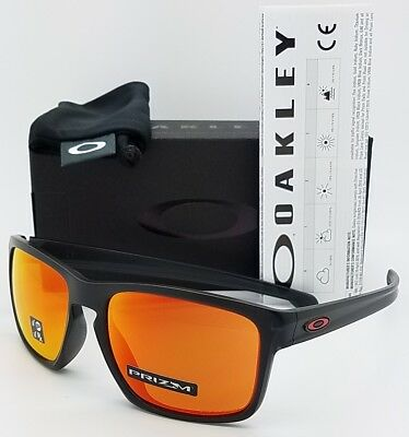 f7dd8aca50c NEW Oakley Sliver sunglasses Black Prizm Ruby Polarized 9269-1757 Asian fit  Red