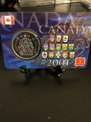2001 Canada Fifty 50 Cent Coin Carded - Clearance Sale!