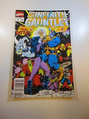 Infinity Gauntlet #6 VF- condition Huge auction going on now!