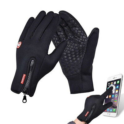 Cycling Gloves Winter Thermal Warm Full Finger Skiing Touch Screen Waterproof