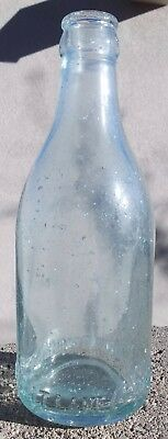 Unusual Stout Straight Sided Coca Cola Bottle from Salt Lake City
