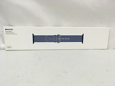 BRAND NEW Apple Woven Nylon for Apple Watch 38mm Navy/Tahoe Blue MP222AM/A #K83