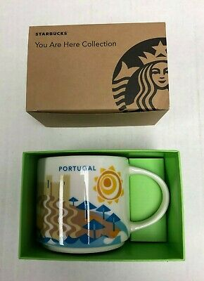 "Starbucks Portugal Collectible Coffee Mug ""You Are Here"" Collection NEW"