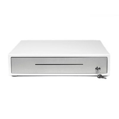 *NEW* Clover D100 White Cash Drawer w/ 2 Keys and Cable *Free Shipping*