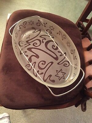 Etched Star of David Judaica Casserole with stand UNIQUE  GORGEOUS