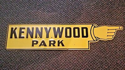 Pittsburgh Kennywood Amusement Park Tin Antique Advertising Sign