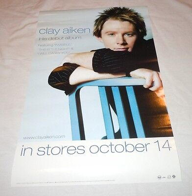 CLAY AIKEN~Measure Of A Man~11x17~Original Promo Poster~NM Condition~2003