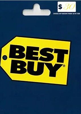 Best Buy Gift Card $30 Free Shipping