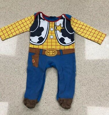 Baby Boys Toy Story Woody All In One Babygrow Outfit/Fancy Dress/Costume 3-6mths