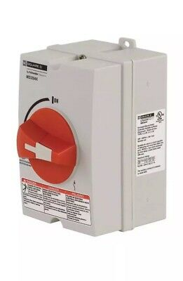 SQUARE D Non-Metallic Disconnect Switch,30A,600VAC,3PH, MD3304X