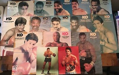 MIXED LOT OF 15 Vintage Boxer Centerfolds & 8x10's Pictures mostly KO Boxing