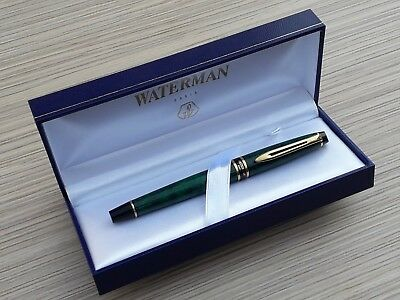 Waterman Expert Green Marble Gt Fountain Pen - Vintage And Rare