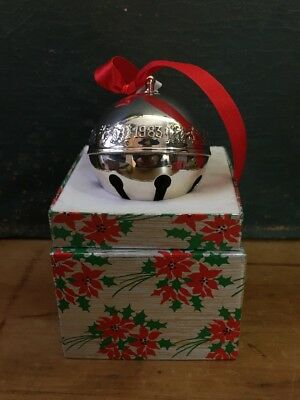 Wallace Silver Plate Christmas Bell 1983