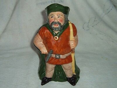 Roy Kirkham Staffordshire Pottery Little John Character Jug Robin Hood Perfect