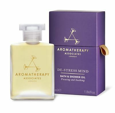 Aromatherapy Associates De-Stress Mind Bath & Shower Oil 55ml *New & Sealed*