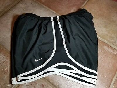 Women's Nike Dri Fit Tempo Athletic Lined Running Shorts size LARGE EUC