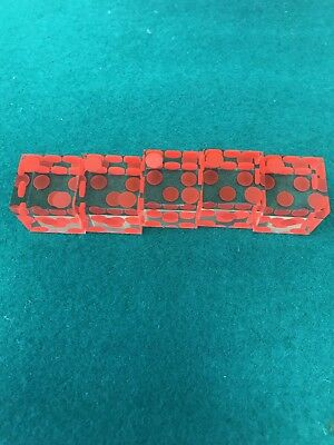 Clear Casino Red Dots Dice