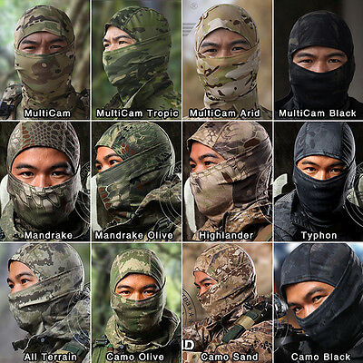 Airsoft Mask Paintball Mask Tactical Camo Balaclava Face Mask Military Outdoor