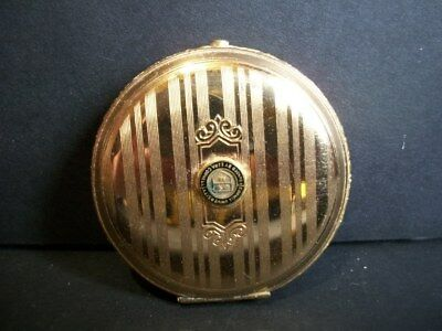 Vintage Cornell University two-toned Gold Carved Round Compact Stunning