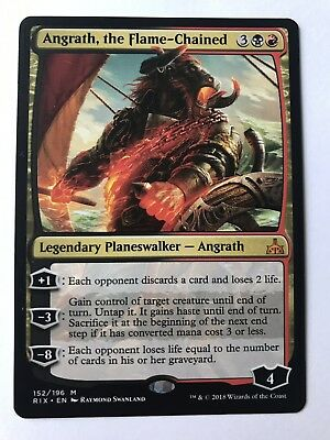 Angrath the Flame-Chained Rivals of Ixalan NM-M Mythic Rare CARD ABUGames