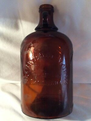 1/2 Gallon Jug Liquor Bottle Christian Brothers California Amber Glass Brandy