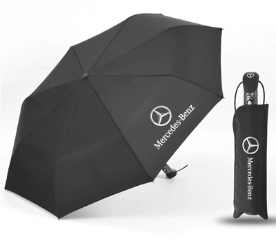 AMG Mercedes Benz Umbrella Car Folding Large Quality Brolly Gift Winter Pocket