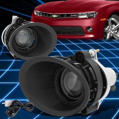 For 14-15 Chevy Camaro LS/LT 3.6L Projector Fog Light Replacement w/Bezel+Switch