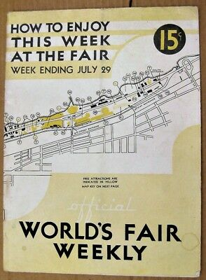 1933 CHICAGO Official Worlds Fair Weekly WEEK ENDING JULY 29 CENTURY OF PROGRESS