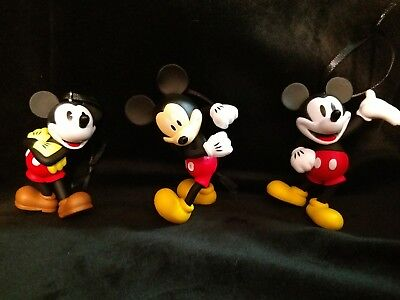 Disney Mickey Mouse 90th Anniversary Mickey three piece set Christmas Ornaments